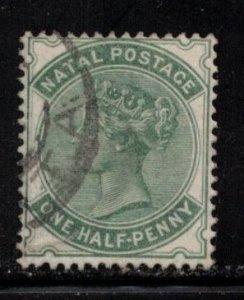 NATAL Scott # 64 Used - Queen Victoria