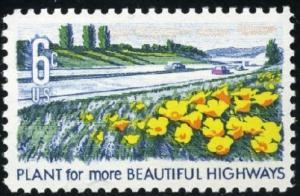 1367 Beautification of America F-VF MNH single