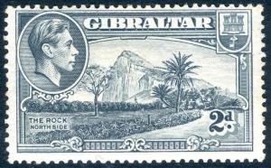 GIBRALTAR-1940 2d Grey Perf 13½ SIDEWAYS WMK superb lightly mounted   Sg 124ab