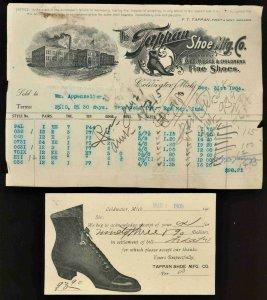 1905 TAPPAN SHOE MFG UX18 Advertising Postcard & Billhead