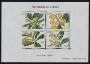 Monaco 1472 MNH Japanese Medlar, Fruit, Flowers