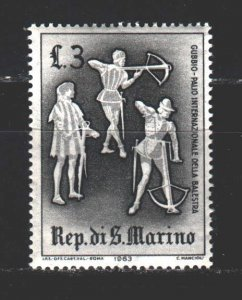 San Marino. 1963. 766 from the series. Medieval warriors, weapons. MNH.