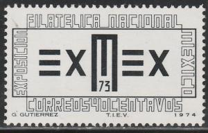 MEXICO 1058, Exmex'73 Philatelic Exhibition MINT, NH. F-VF.