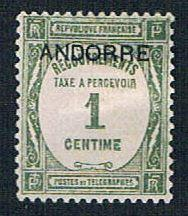 French Andorra J9 MLH Postage Due overprint (BP8225)