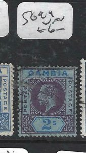 GAMBIA  (P0607B)  KGV    2/-       SG 99  VFU