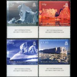 BR.ANTARCTIC TERR. 2007 - Scott# 378-81 Iceberg Set of 4 NH
