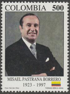 COLOMBIA 1145, PRESIDENT MISAEL PASTRANA BORRERO. MINT, NH. F-VF. (539)