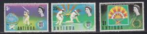 Antigua # 297-299, Rising Sun Cricket Club, NH, 1/2 Cat.