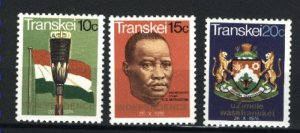 South Africa-Tanskei 2-4   Mint NH VF 1976 PD
