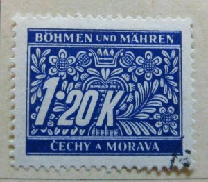 A6P35F120 Germany Bohemia and Moravia Postage Due Stamp 1939-40 1.20k used