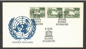 3 Finland # 399 on Special UNESCO Cancellation Cover 10/9/64 - I Combine S/H