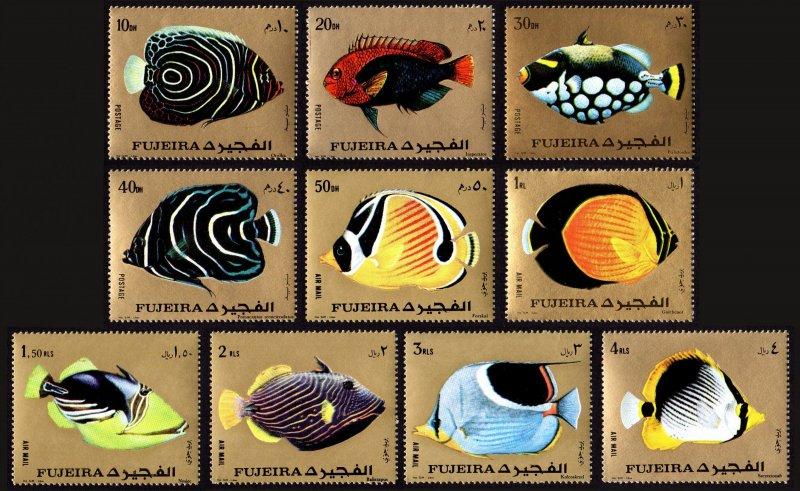 Fujeira MNH MI 1380-9A Exotic Fish Marine Life 1972