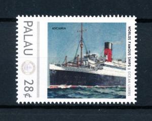[90517] Palau  Ships Ascania Ocean Liners Cunard Line  MNH