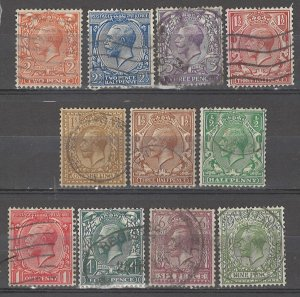 COLLECTION LOT # 5086 GB 11 STAMPS 1912+ CV+$25