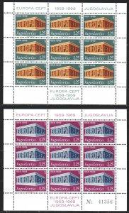 Yugoslavia. 1969. Small sheet 1361 I-62 I. Europe-sept, mail. MNH.