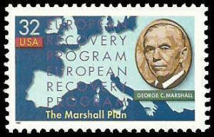 PCBstamps     US #3141 32c Marshall Plan, 1997, MNH, (9)