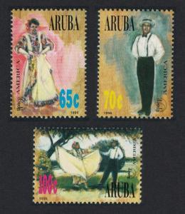Aruba America Traditional Costumes 3v 1996 MNH SG#179-181