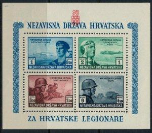 Croatia #B37* NH  CV 7.50 Souvenir sheet, perforated