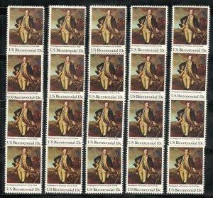 1704 Washington At Princeton Wholesale Lot Of 20 Singles Mint/nh FREE SHIPPING