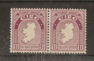 Ireland 1940 1.5d Claret SG113 MNH Pair Cat£38