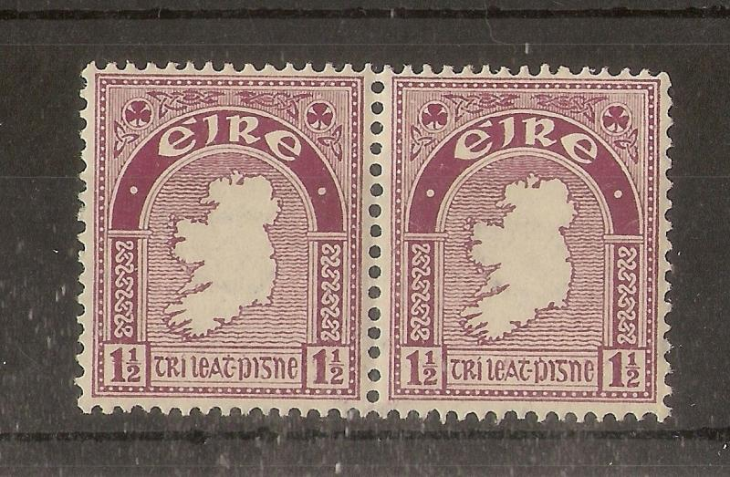 Ireland 1940 1.5d Claret SG113 MNH Pair Cat£38