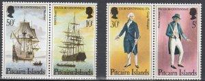 Pitcairn Island, Sc 158a-159a, MNH, 1976, U.S. Bicentennial