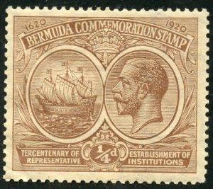 Bermuda Scott 55 Unused F-VFLHOG - Seal of the Colony, Wmk 3 Sideways -SCV $4.00