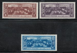 Egypt 1936 Signing of Anglo-Egyptian Treaty Scott # 203 - 205  MH