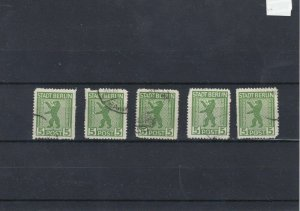Stadt Berlin ZigZag Roulette Stamps CAT£900  Ref: R7151