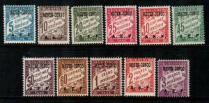 Middle Congo #J1-J11  Mint  Scott $25.80