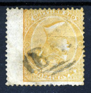 MAURITIUS Queen Victoria 1872 One Shilling Orange INVERTED WATERMARK SG 70w