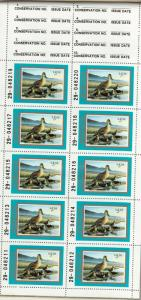 MT3h Montana State Duck Stamp. Hunter Type Booklet of 10 MNH. OG.