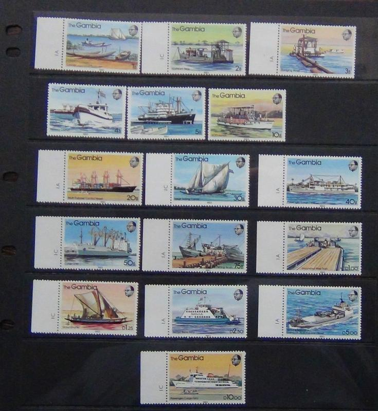 Gambia 1983 River Craft set complete to 10D MNH