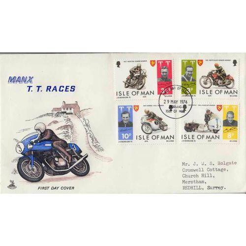 First Day Cover 29th May 1974 Manx T.T. Races