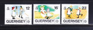 Guernsey 401-403 Set MNH Europa, Childrens Toys and Games