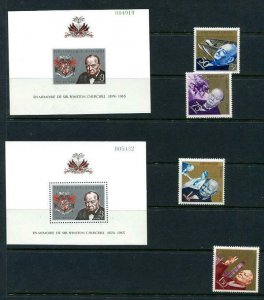 Haiti 2 sheets Perf+Imperf +perf stamps  MNH  W  Churchill 10966