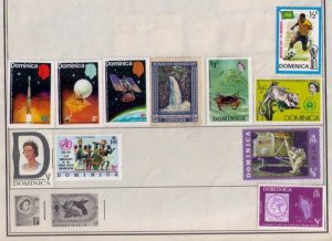 Dominica Sc 268 MH W.Others Sc 354-356 Very Fine (11) Stamps Total.(Harris Page)