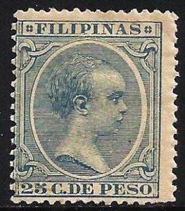 Philippines 1891 Scott# 178 MH writing on gum