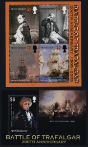 Montserrat 1135-6 MNH Battle of Trafalgar, Lord Nelson, Ships, Napoleon