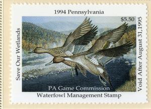 US PA12  PENN STATE DUCK STAMP 1994 MNH SCV $9.00 BIN $5.50