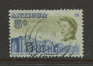 Antigua #172 Used 1966 Single 5c Stamp