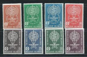 Maldive Islands 87-94 1962 Malaria set MNH