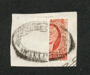 Mexico - Sc# 4 Used Half on piece / Signed       -        Lot 0721199