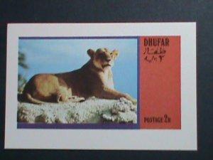 DHUFAR-WILD  ANIMAL- LION-IMPERF :MNH S/S SHEET-VERY FINE