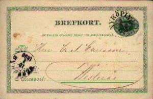 Sweden, Government Postal Card