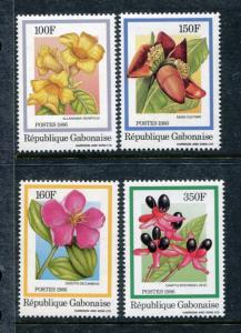 Gabon 601-604, MI 962-965, MNH. Flowering plants, 1986 SCV-$10.0 x27132