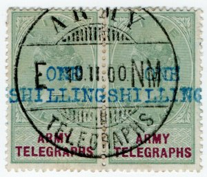 (I.B-BOB) QV Telegraphs : Army Telegraphs 1/- on 5/- (Enslin - Boer War)