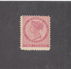 PRINCE EDWARD ISLAND # 5i F-VF-MNH GUM SPOT 2d QN VICTORIA / DEEP ROSE CV $30