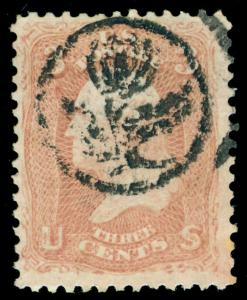 MOMEN: US STAMPS #65 USED PF CERT