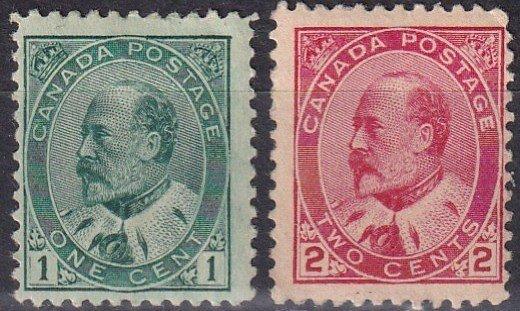 Canada #89-90 Unused CV $100.00  (Z6111)